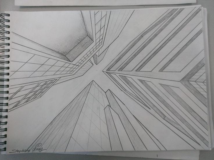 perspective 1 point de fuite - Dessiner Une Piece En Perspective Frontale