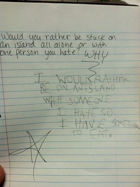13 Kids' Wrong Exam Answers That Were Absolutely Perfect