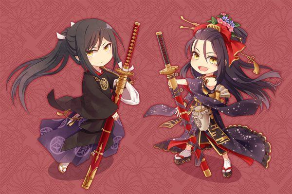 Taroutachi and Jiroutachi | Touken Ranbu @chocochoco0123 twitter