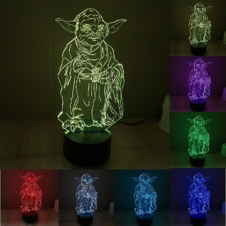 Star Wars Yoda 3D Illusion LED Lamp