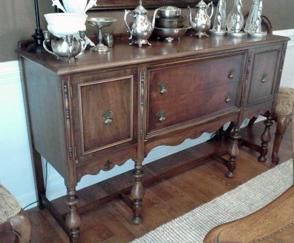 Antique Sideboard / Buffet Dark Walnut Stain. $400.00, via Etsy.