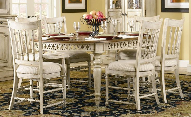 Country Style Dining Room Table And Chairs