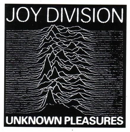 The design behind Joy Division's 'Unknown Pleasures' album cover.