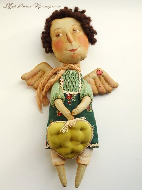 Кукла ручной работы. Автор Юля Чоклина. Блог:http://chelovebrik.blogspot.com/