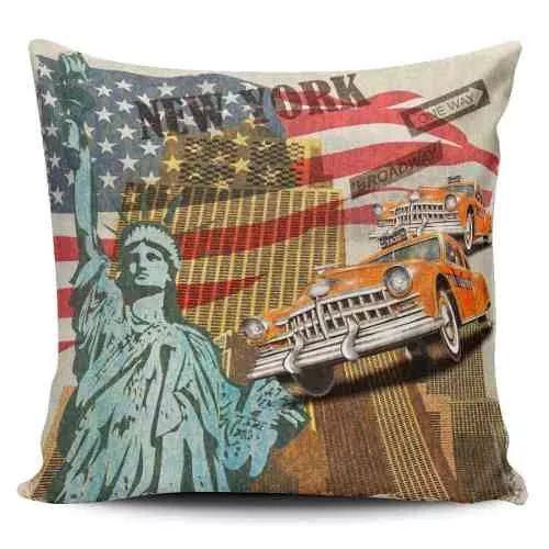 Cojin Decorativo Tayrona Store New York Vintage - $ 43.900