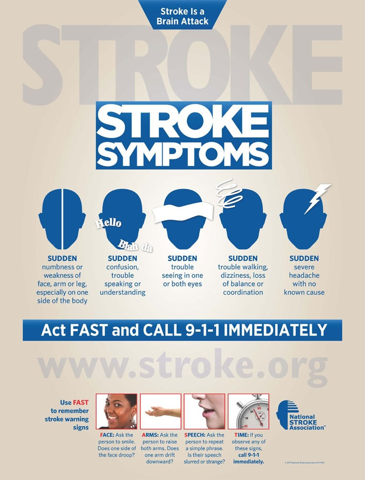 What could cause a stroke in the brain?