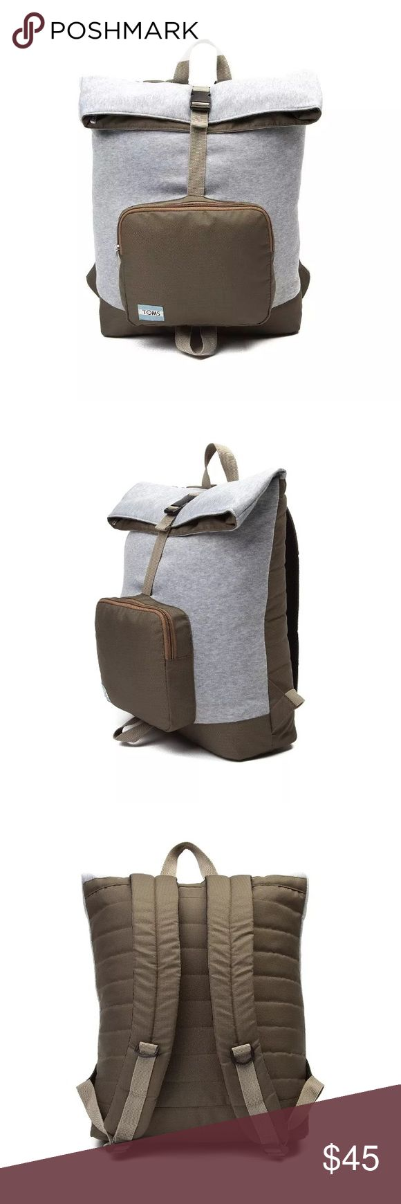 SALE Toms stand up jersey backpack in olive multi SALE Toms standup to bullying stand up backpack in olive multi! Perfect for a college student on the go! Inner computer sleeve. Padded and adjustable straps. 15.7 X 9.9 X 4.3 price is firm. Bundle and save TOMS Bags Backpacks