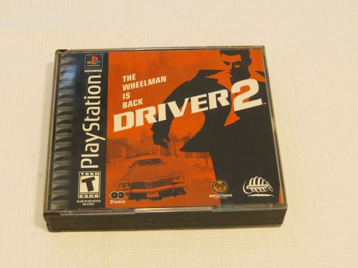 Driver 2 (Sony PlayStation 1, 2000) PS1 The Wheelman is Back T Teen 2 discs*^ #Infogames