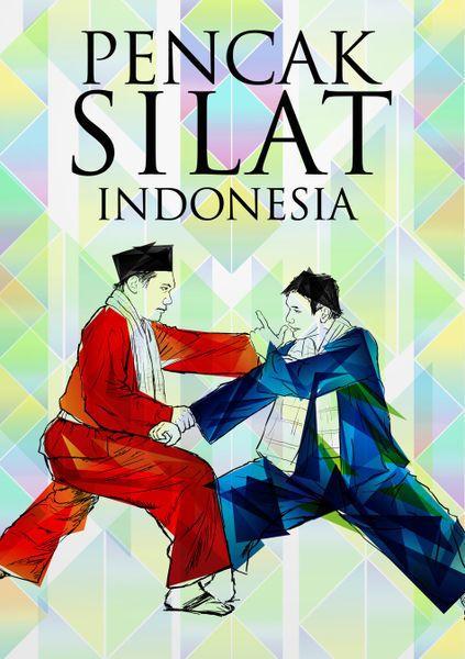 Poster design for pencak silat Indonesia