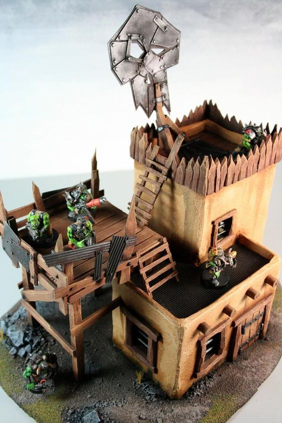 Pin by mark jenkins on ork terrain | Warhammer terrain, Game