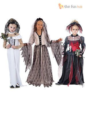 #Girls ghost zombie corpse bride #fancy dress up halloween book week kids #costum,  View more on the LINK: http://www.zeppy.io/product/gb/2/400567435474/