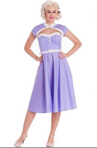 Ihanan eleganttia! #polkadot #dress #violet #pastel #cybershop #pinup #fashion