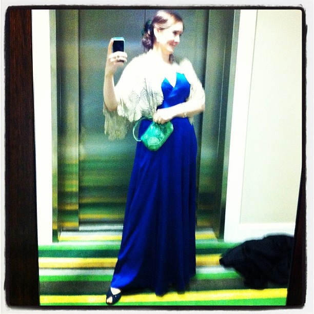 Previously Loved Find: Silk Ball Gown from Oxfam Cork. Read Evin O' Keefe's blog post here:     http://evinok.net/?p=4993