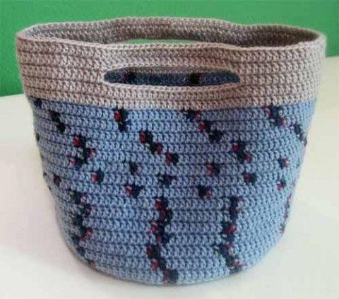 Сумочка - корзинка своими руками. Вязание крючком