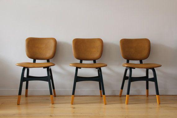 Dip Dye Deense jaren 60 stoelen van TAATMAAKT op Etsy