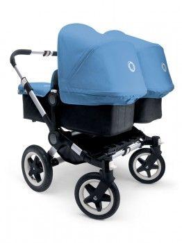 Bugaboo Donkey Twin Aluminium Chassis - black/ice blue