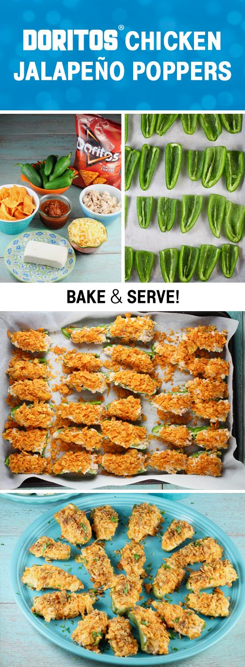 Sponsored by Frito-Lay | Say yes to summer in the most delicious way, with this recipe for Doritos Chicken Jalapeno Poppers. Not only is this bite-sized appetizer filled with all your favorite spicy flavors, it gets a crunchy topping of Doritos Nacho Cheese for added fun! Grab everyone's favorite Frito-Lay® products to try out this savory dish at your outdoor summer party, picnic, or potluck. You can never go wrong with bold bites!