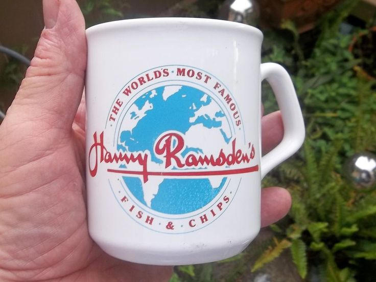 Harry Ramsden's Fish & Chips Coffee Mug United Kingdom Restaurant Cup