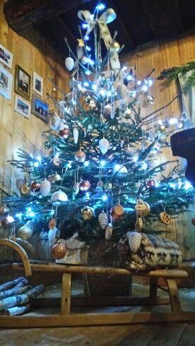 Vianočné stromček na drevenici