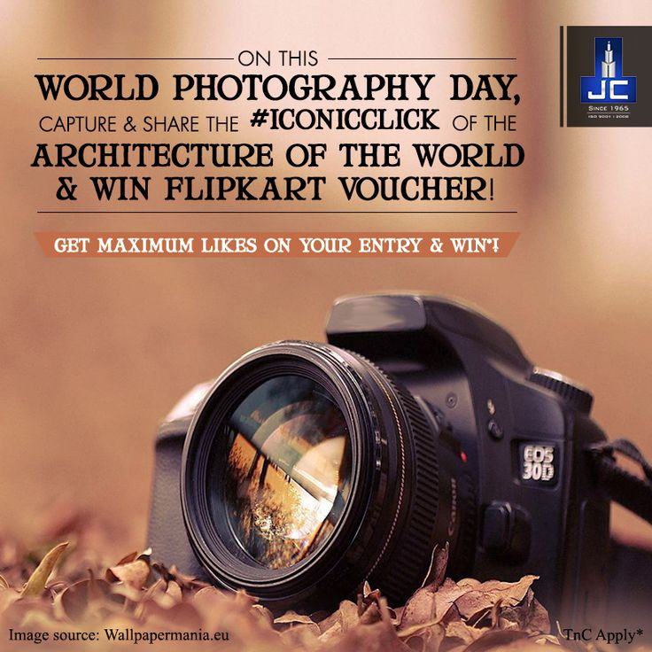 ***#ContestAlert!*** Are you a shutterbug? Do you love your camera? If yes, share with us your most #IconicClick of architecture of the world on our Facebook page and stand a chance to win a Flipkart voucher worth 1K! Participate NOW as the contest ends at 11:59pm.  Let's celebrate our passion for photography today! Happy World Photography Day!