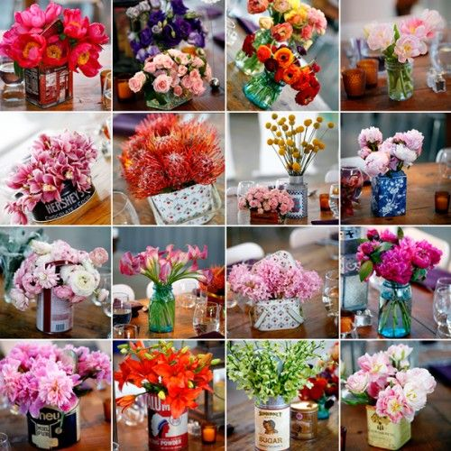 I like these flower ideas to make our stall pretty