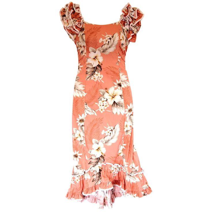 Petal Pink Hawaiian Meaaloha Muumuu Dress with Sleeves