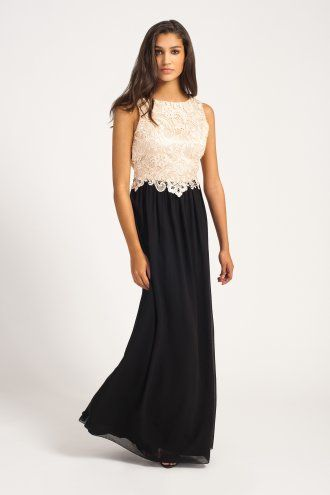 Cream and black lace dress uk