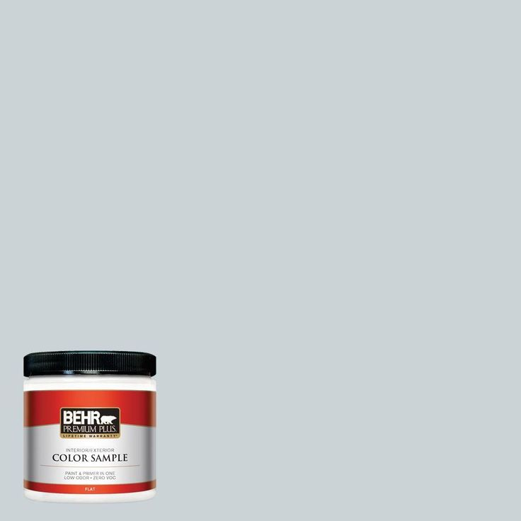 BEHR Premium Plus 8 oz. #N490-1 Absolute Zero Interior/Exterior Paint Sample