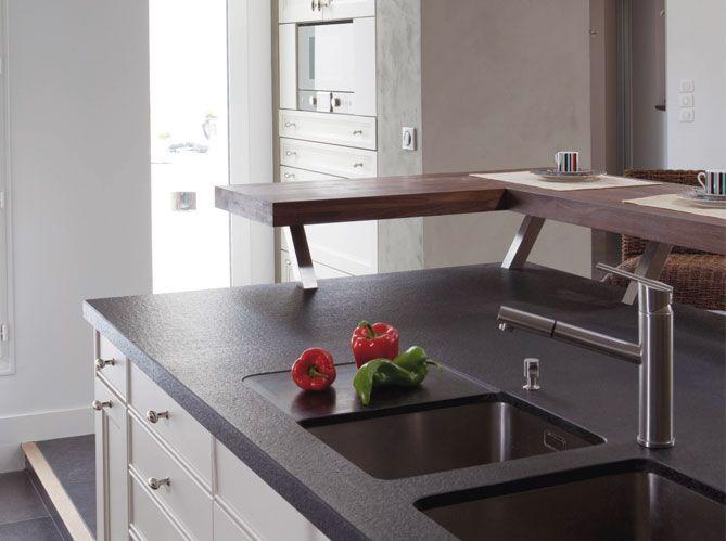 Cuisine cuisine blanc avec plan de travail noir : 17 meilleures idées à propos de Cuisine En Granit Noir sur ...
