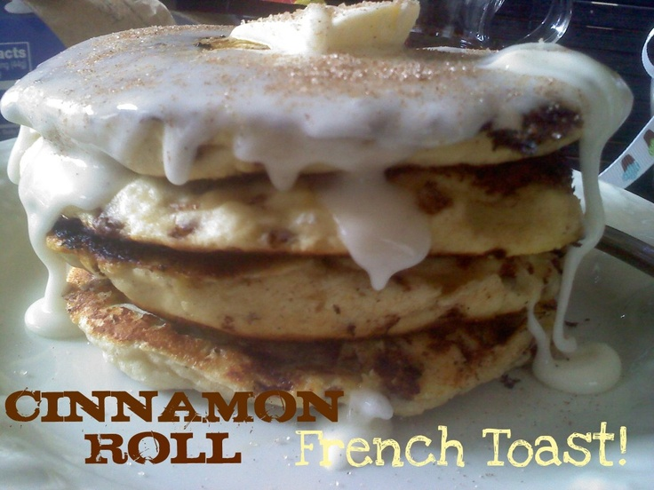 Cinnamon Roll French Toast, but with Immaculate Bakery Cinnamon rolls.