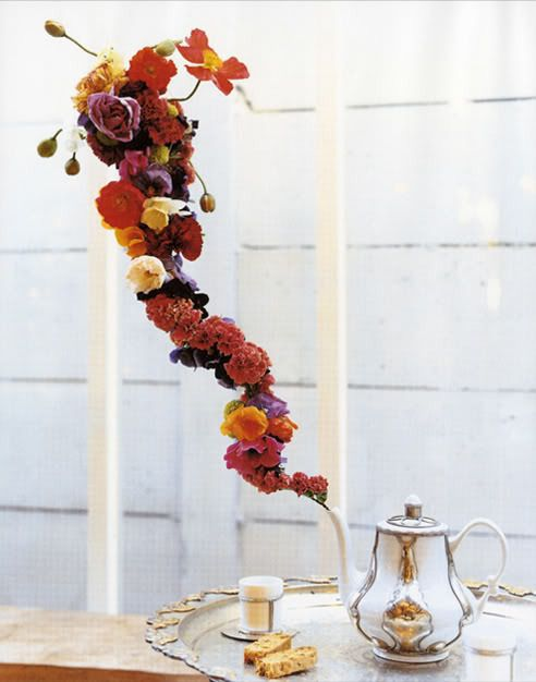 expertly manipulated florals and wire. Inspiration more than a to-do.