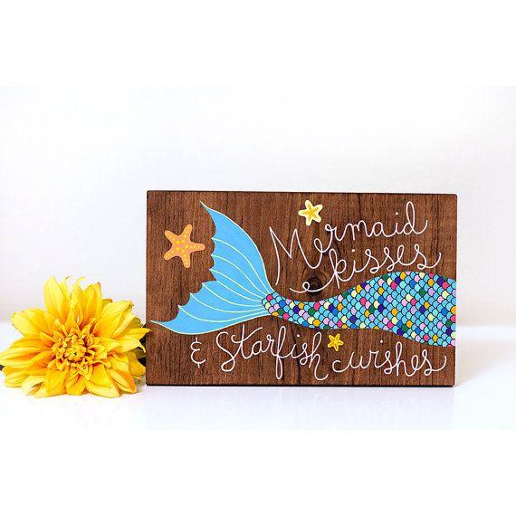 Zeemeermin hout teken zeemeermin schilderen door ArtBySharell