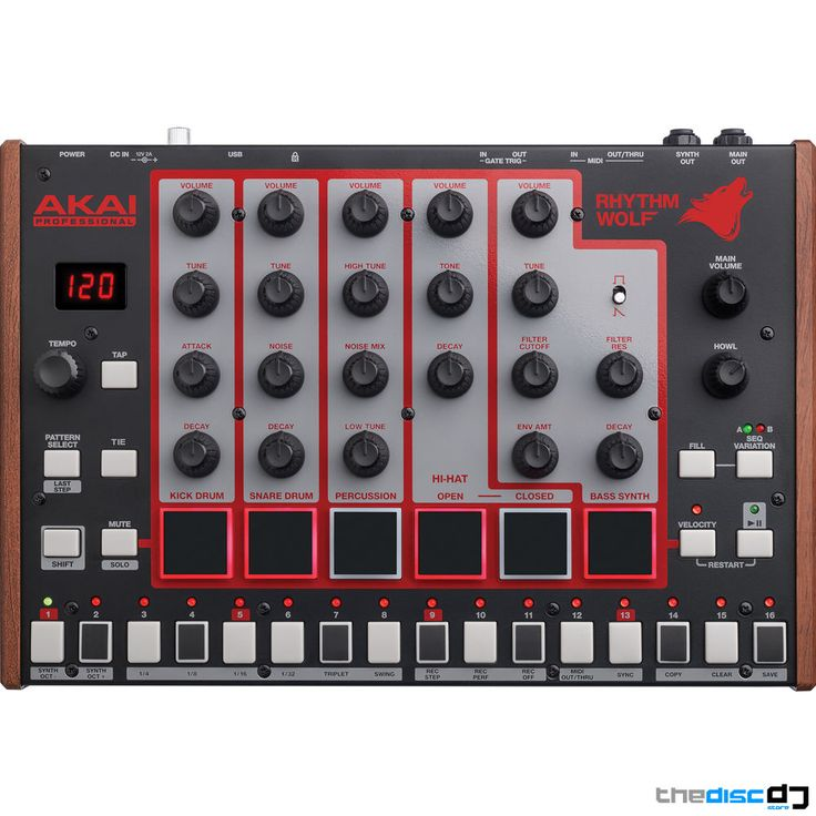 Akai Rhythm Wolf Synth, Drum Machine + Analog Bass Synthesizer in Musical Instruments, Percussion, Drums | eBay