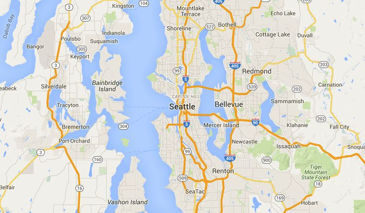 Seattle Neighborhood Map (With images) Seattle map