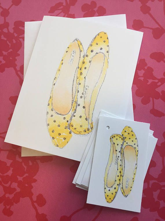 Greeting card watercolour illustration of yellow ballerina