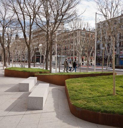 "enochliew: ""Santa Bárbara Square by Nieto Sobejano It is part of a larger-scale operation aimed at transforming a dense central area of Madrid. """