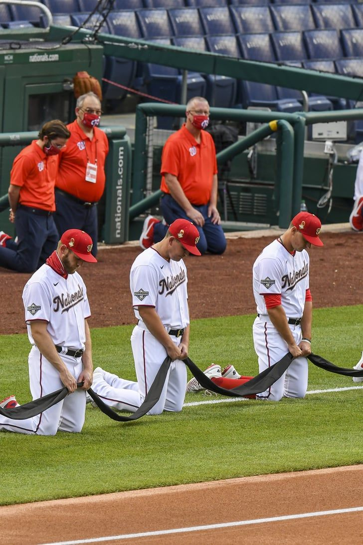 See The Powerful Moment Mlb Players And Coaches Kneeled For Racial Justice On Opening Day In 2020 Mlb Players Major League Baseball Players Racial Justice