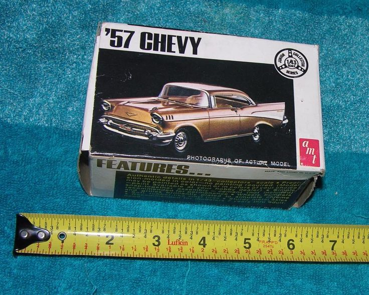 VINTAGE AMT 57 CHEVY MODEL KIT 1/43 SCALE JUNIOR COLLECTOR SERIES CHEVROLET   #AMT