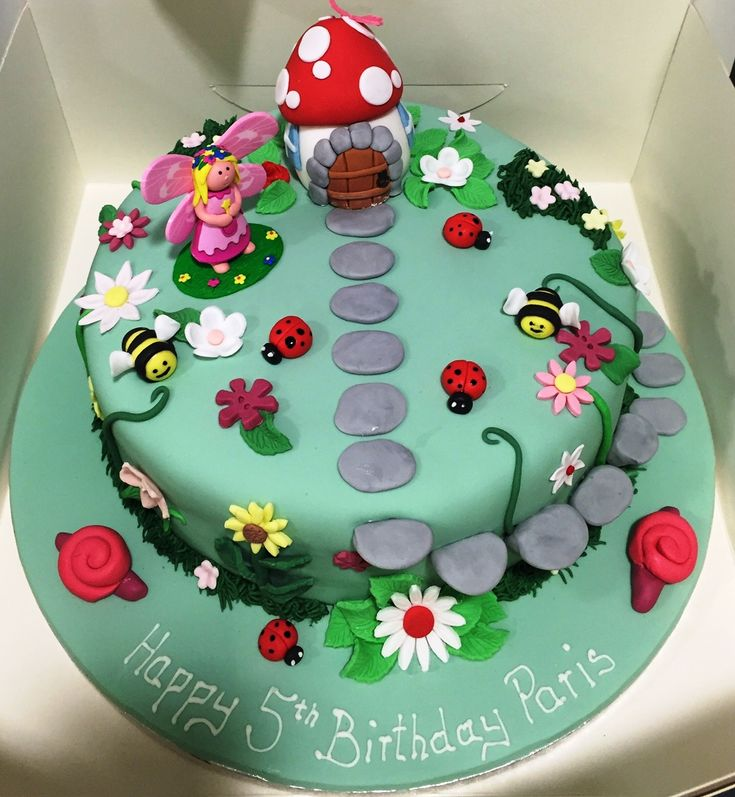25 best ideas about toadstool cake on pinterest fairy for Fairy garden birthday cake designs
