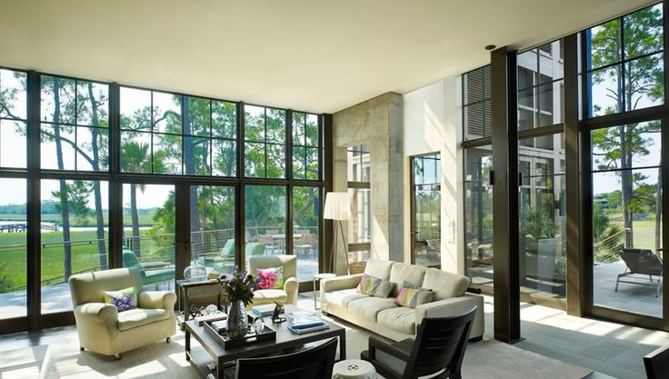 Steel Windows Doors In A Modern House Windows