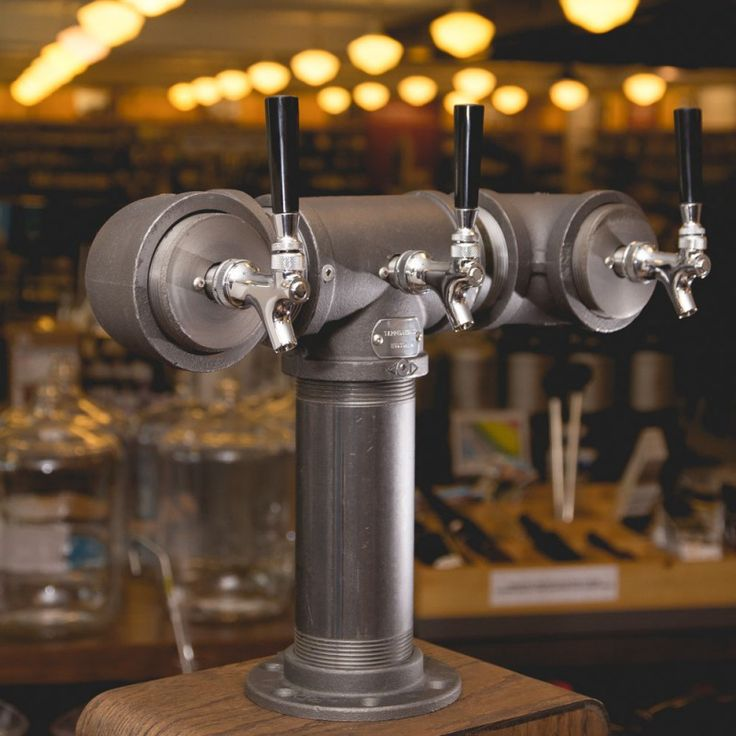 Draft Beer Tower - Black Iron - Triple Tap - Standard Faucet