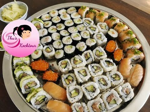 Sushi Basics / Maki, Inside Out & Nigiri – Sushi Reis & Ingwer - YouTube