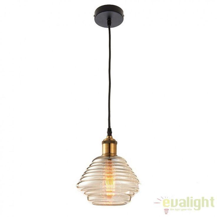Pendul minimalist Vintage diametru 19cm Williams 61355 EN - Corpuri de iluminat…