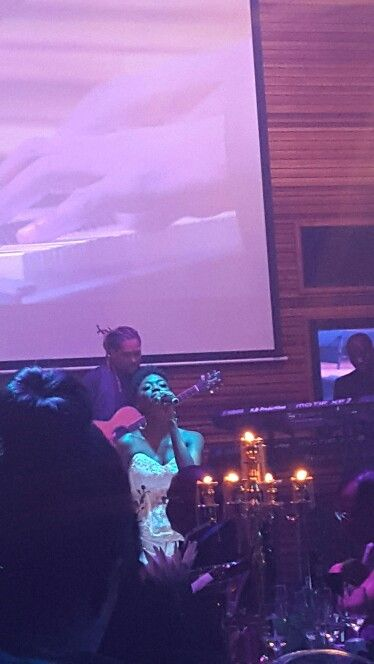 Lira , SA songstress sings for us at Bindzile's  50th...awesome