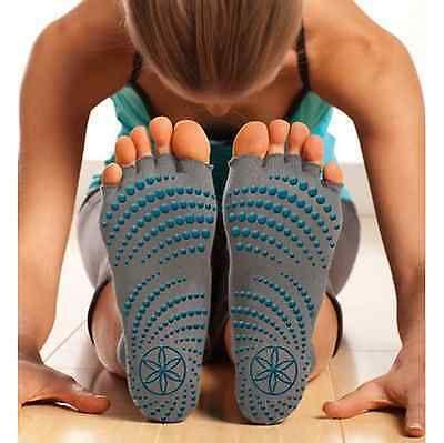Grippy Non Slip Dance Open Toeless Yoga Pilates Exercise Fitness Half Socks NEW