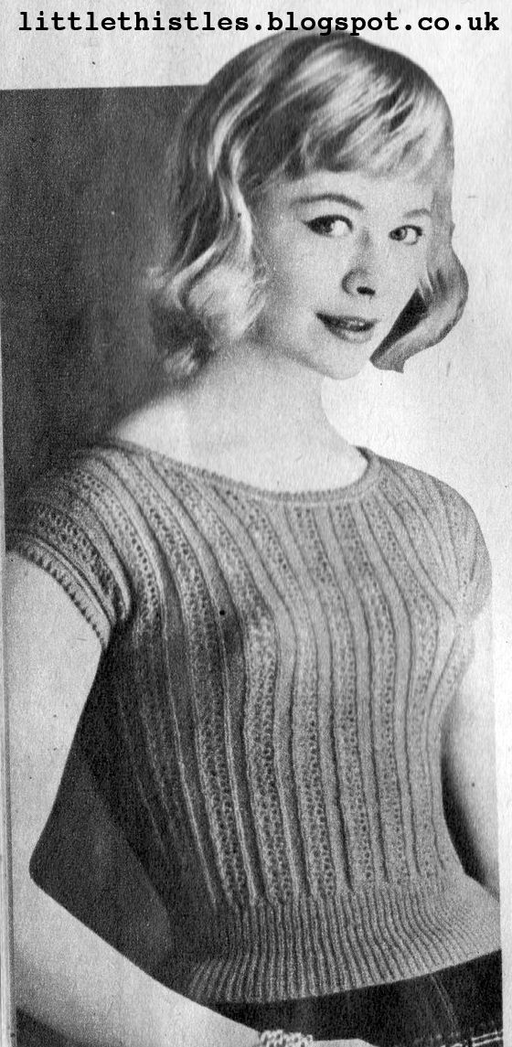 The Vintage Pattern Files: 1950's Knitting - Cool Charm