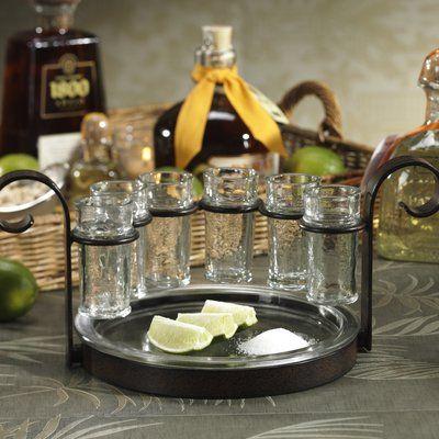 Zodax Fiesta 6 Piece Tequila Shot Glass Set