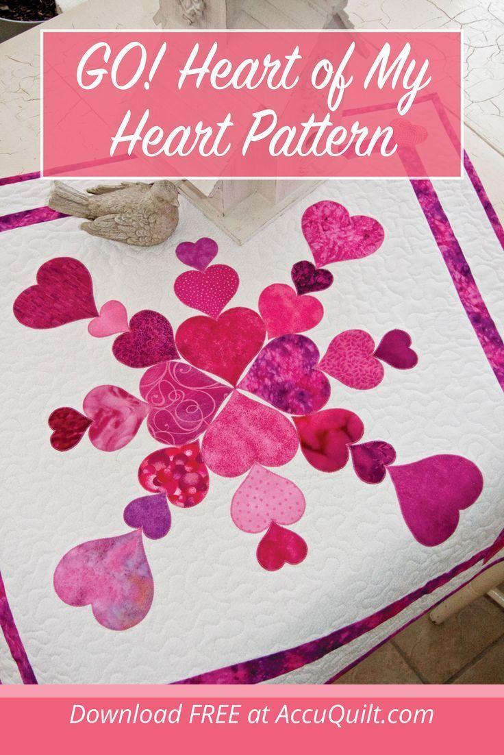 Go Heart Of My Heart Pattern In 2020 Heart Patterns Quilted Wall Hangings Quilted Wall Hangings Patterns