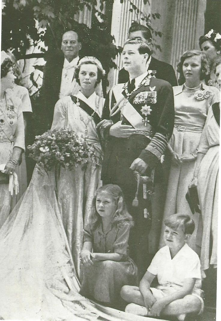 Marriage of King Michael and Princess Anne of Bourbon-Parma. Marlene A, Eilers Koenig collection