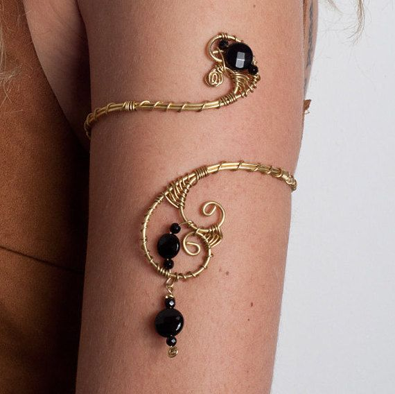 Burning man jewelry Handmade Upper arm cuff arm band by energywire